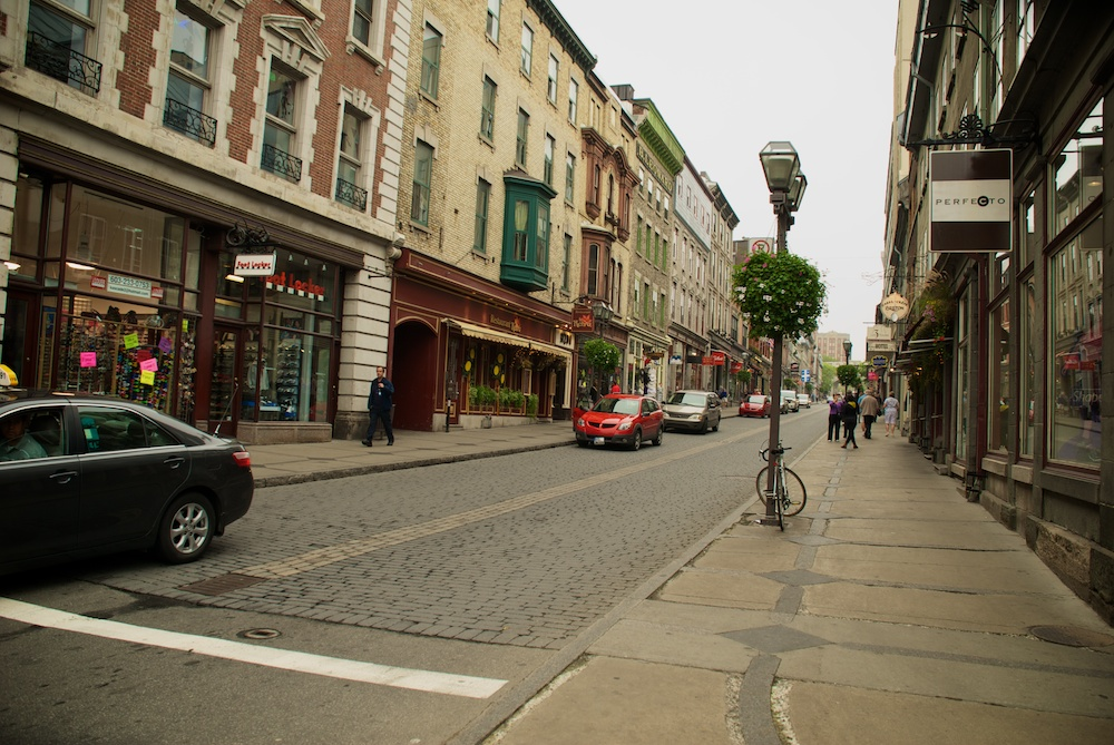 По улиците на стария Квебек