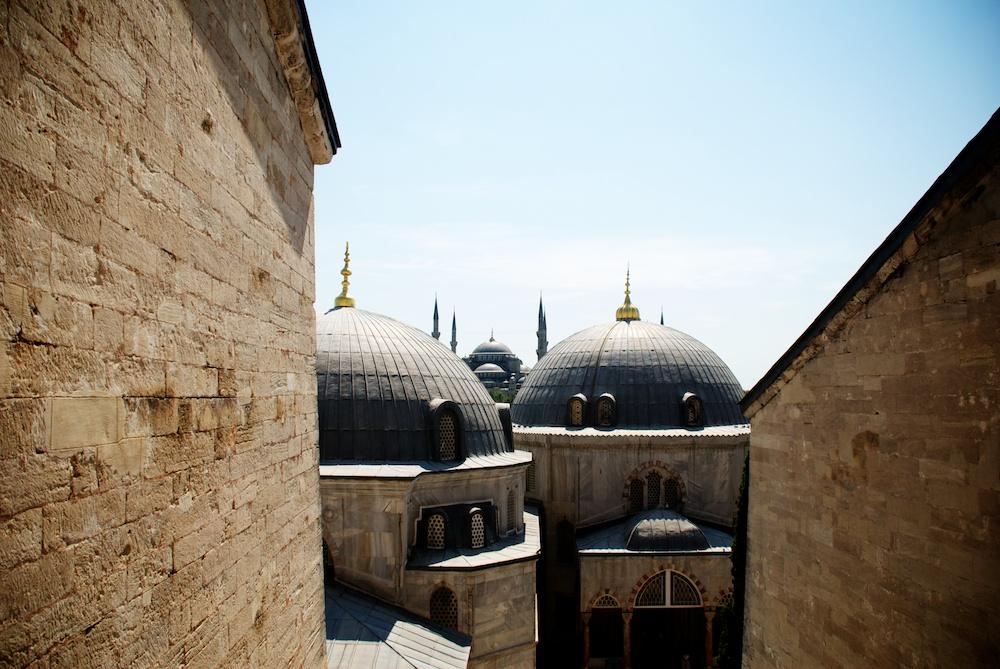 Гледка към Синята джамия
